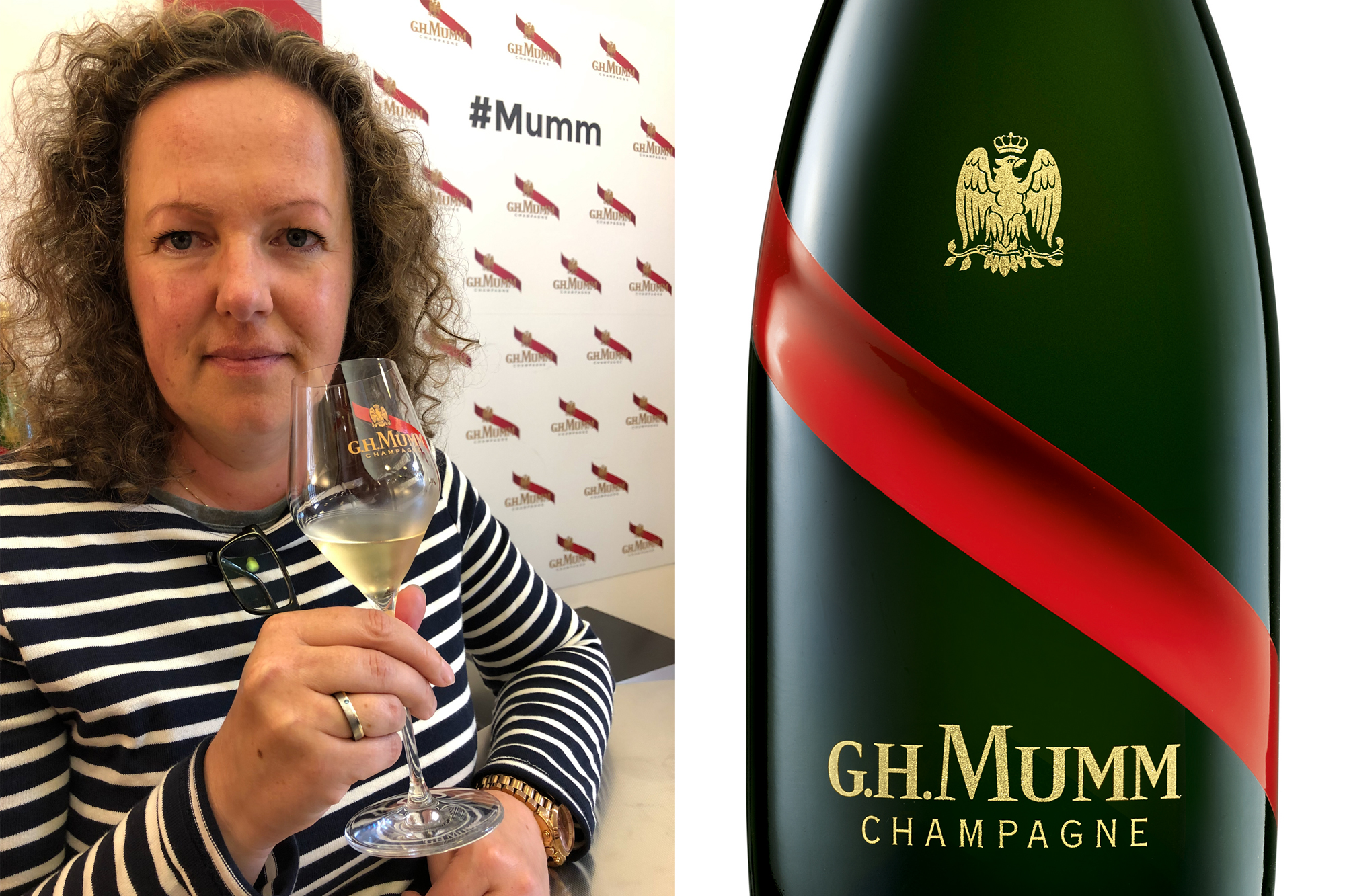 Lotte bij Mumm Champagne in Reims